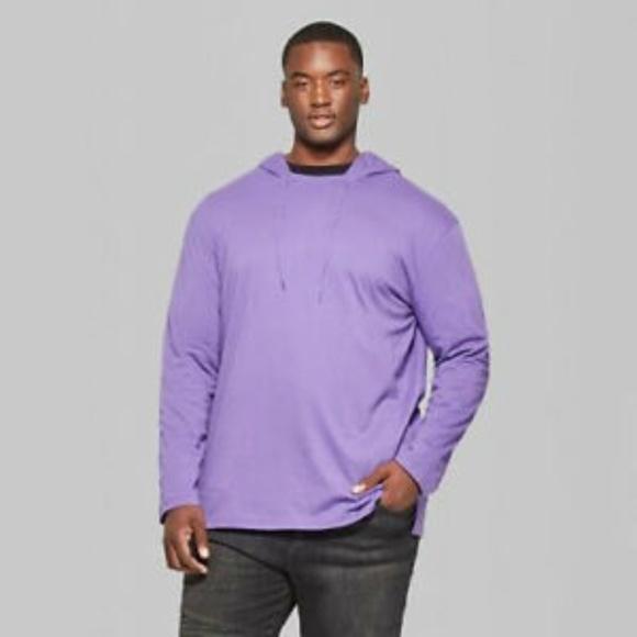 Original Use Mens Long Sleeve Hooded Shirt